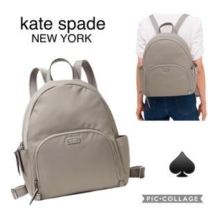 ♠️ Kate Spade DAWN Tech Smart Backpack- Soft Taupe